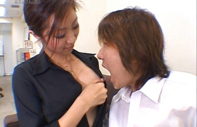 Kumi Tachibana Busty Asian schoolgirl shows off nice tits