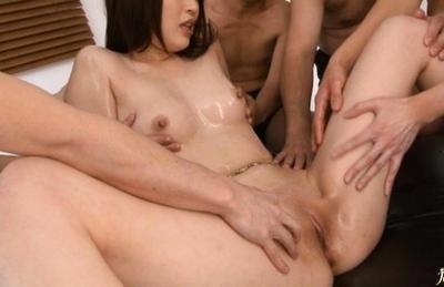 Riko Oshima Asian beauty gets a rear fucking