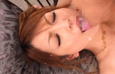 Kaede Matsushima Asian chick fucks two horny dudes