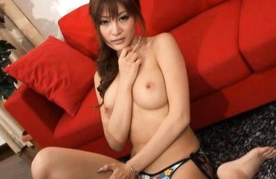 Kirara Asuka Hot Asian doll shows off her bit sexy tits