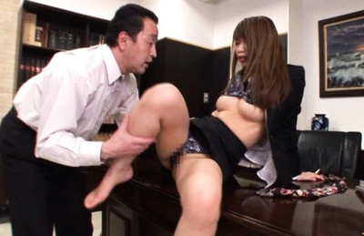 Hikari Hino Sexy Asian secretary fucks her boss