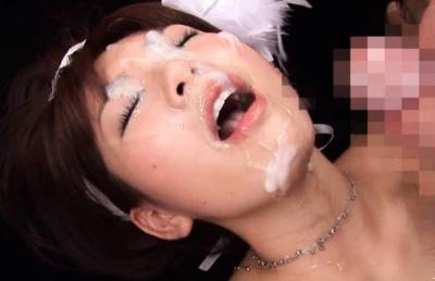 Mayu Nozomi Asian babe gets a cum facial