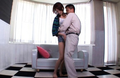 Lovely Asian Misaki Shiraishi gets face drenched in cum