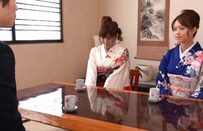 Akiho Yoshizawa and Yuma Asami Asian babes in a gangbang