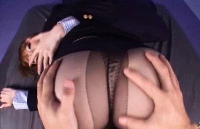 babetie stewardess Mijo Ashina enjoys sucking cock and a good fuck.