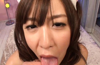 Kotomi Nagisa in hand cuffs gets drilled doggy style