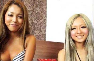 Asian sensations Julia Tachibana and Runa Asahi in threesome