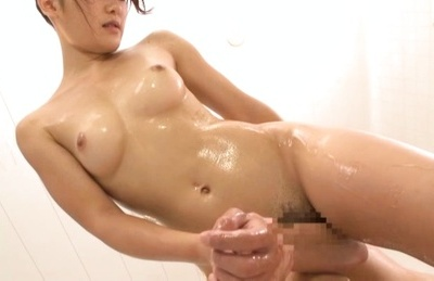 Hot Nana Usami likes it in the wet shower