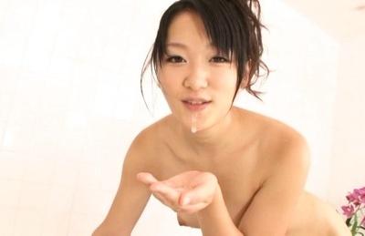 Hot Nana Usami likes it in the wet shower