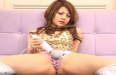 Risa Tsukino Horny Asian Model Enjoys Fingering Her Pussy