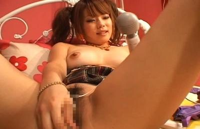 Aya Fujimoto Pretty Asian Model Likes Her Vibrator