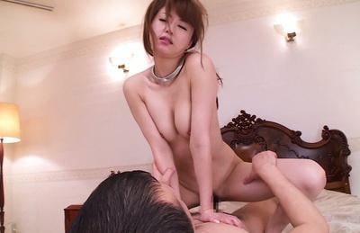 Busty Akiho Yoshizawa loves cock sucking