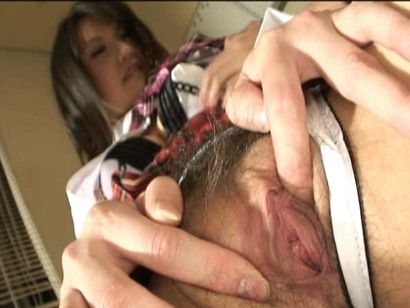 Suzuki Chao Pretty Asian Model Gets Her Hairy Pussy Exposed