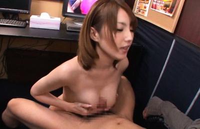 Busty Japanese milf Tsubasa Amami seduces and fucks her pal