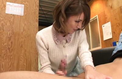 Cute Japanese hottie Tsubasa Amami enjoys dildo insertion