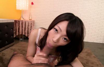 Tasty hot cum on body of Asian teen Harukana Ayane
