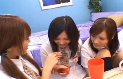 Japanese Av models enjoy some juicy pussy rubbing