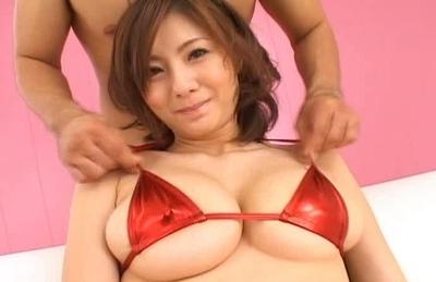 Yuma Asami Asian model gets big tit fondling and a pussy rubbing