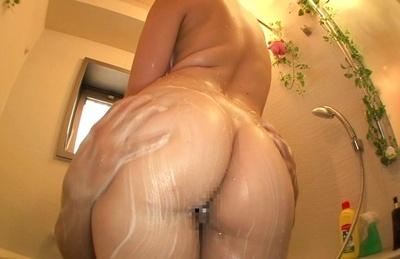 Nice looking schoolgirl with big tits Ai Uehara enjoys sex in a shower