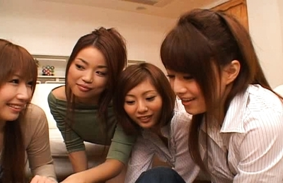 Japanese AV models enjoy lots of group sex