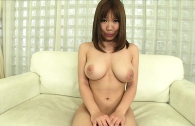 Cute busty sex doll Iroha Suzumura gets her tits licked and engulfs cock
