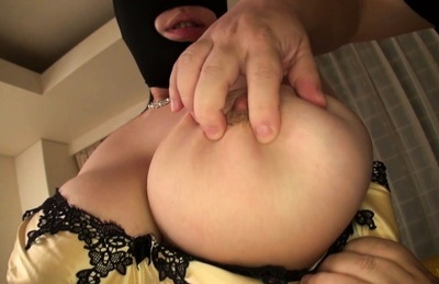 Chubby Asian with big tits gets ravished in threesome