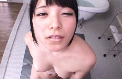 Asian sweetheart Ai Uehara gets soaped and foamed and gives head