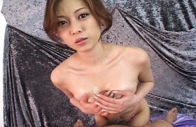 Miho Maeshima Naughty Asian model likes giving handjobs