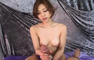 Miho Maeshima Naughty Asian model likes giving handjobs