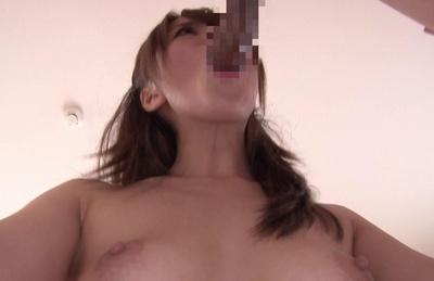 Innocent looking model Saki Hatsumi experiences hot banging action