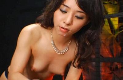 Yuka Osawa Asian doll ties her boyfriend up and rubs his cock