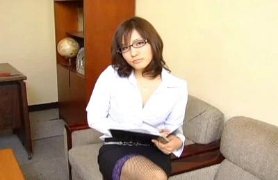 Nao Ayukawa Naughty Asian teacher is teaching her class how to fuck