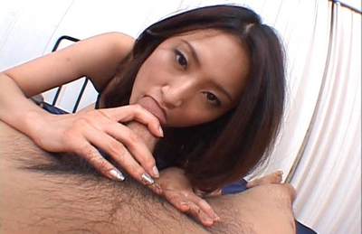 Risa is a hot Asian chick who enjoys riding cock