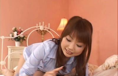 Risa Kasumi Asian doll who gives hot blowjobs